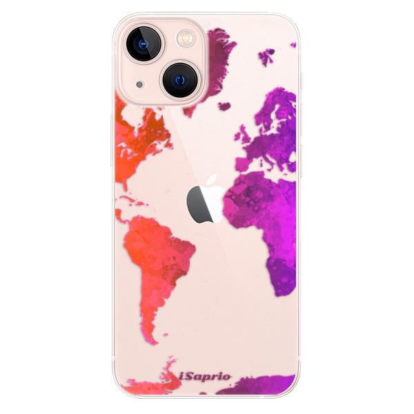 Odolné silikonové pouzdro iSaprio - Warm Map - iPhone 13 mini