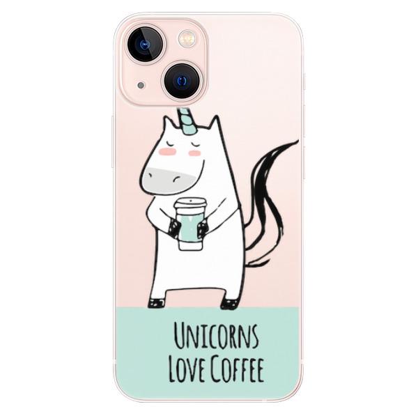 Odolné silikonové pouzdro iSaprio - Unicorns Love Coffee - iPhone 13 mini