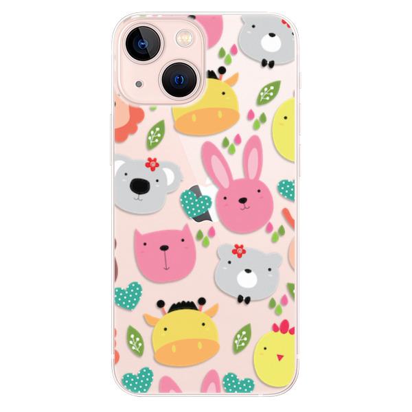 Odolné silikonové pouzdro iSaprio - Animals 01 - iPhone 13 mini