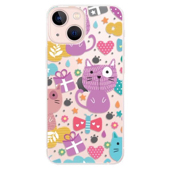 Odolné silikonové pouzdro iSaprio - Cat pattern 01 - iPhone 13 mini