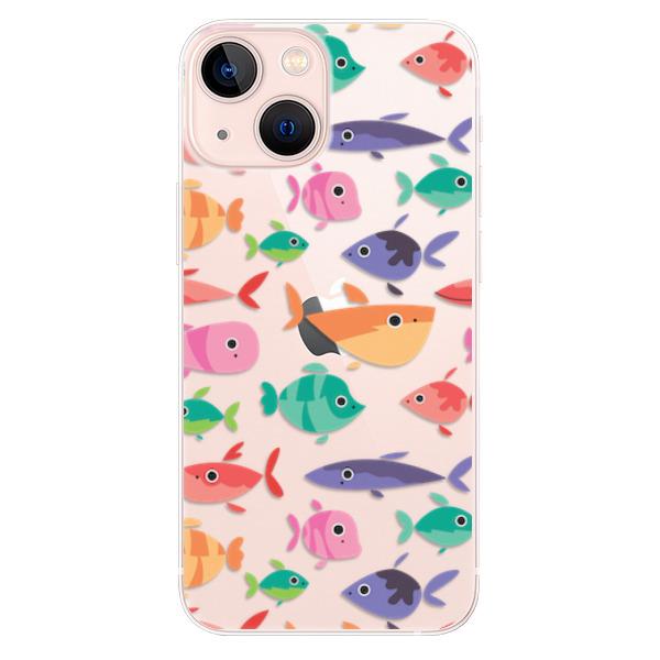 Odolné silikonové pouzdro iSaprio - Fish pattern 01 - iPhone 13 mini