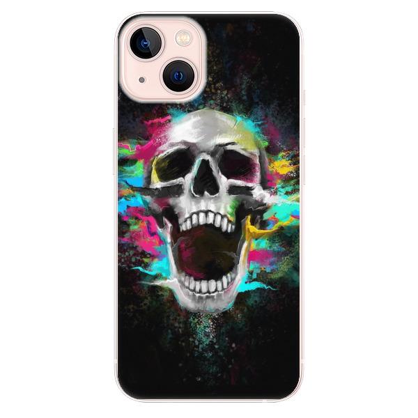 Odolné silikonové pouzdro iSaprio - Skull in Colors - iPhone 13