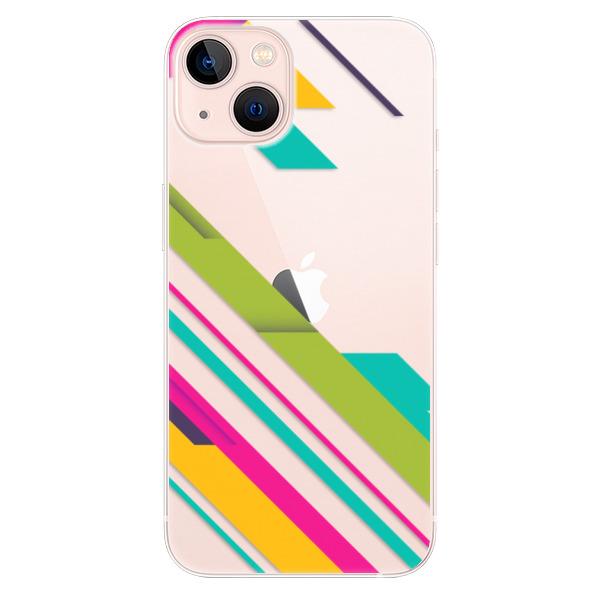 Odolné silikonové pouzdro iSaprio - Color Stripes 03 - iPhone 13