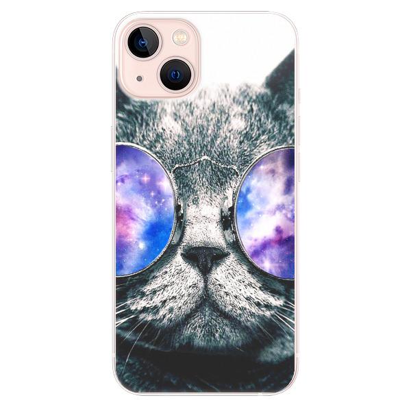 Odolné silikonové pouzdro iSaprio - Galaxy Cat - iPhone 13