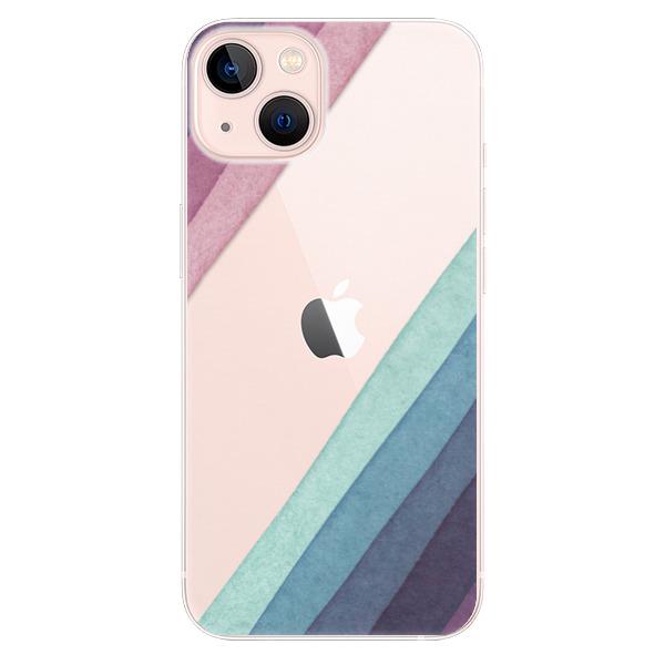 Odolné silikonové pouzdro iSaprio - Glitter Stripes 01 - iPhone 13