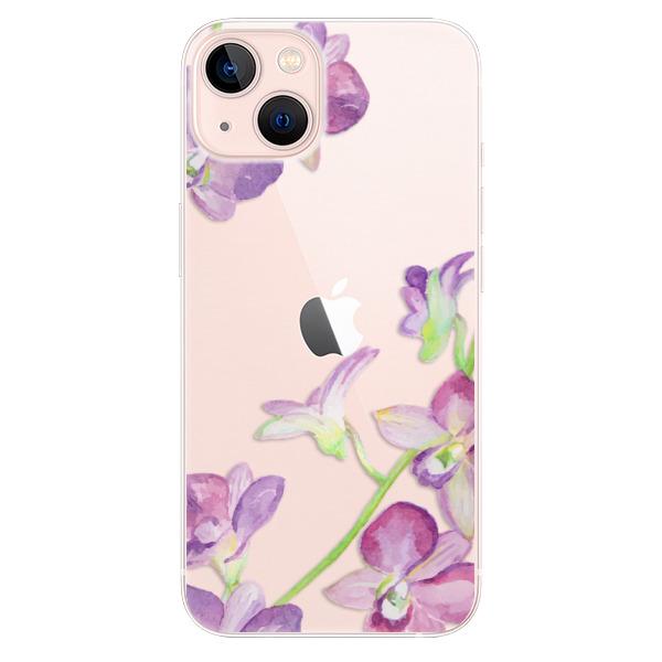 Odolné silikonové pouzdro iSaprio - Purple Orchid - iPhone 13
