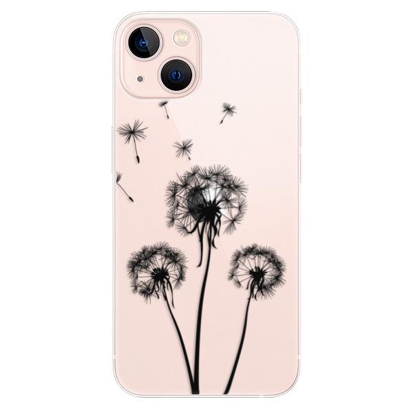 Odolné silikonové pouzdro iSaprio - Three Dandelions - black - iPhone 13
