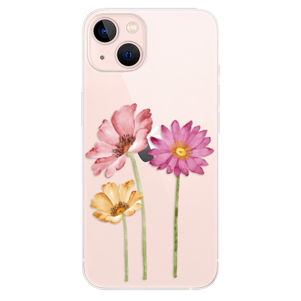 Odolné silikonové pouzdro iSaprio - Three Flowers - iPhone 13
