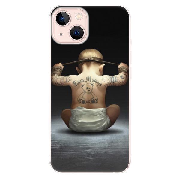 Odolné silikonové pouzdro iSaprio - Crazy Baby - iPhone 13