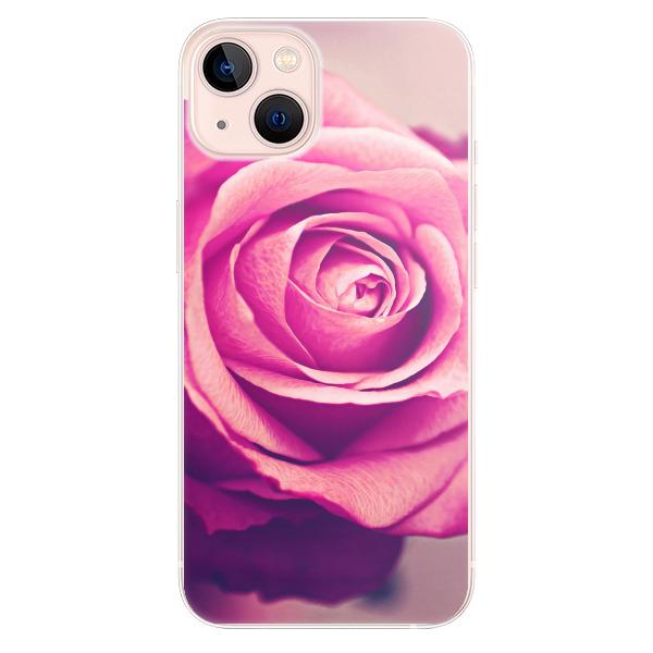 Odolné silikonové pouzdro iSaprio - Pink Rose - iPhone 13