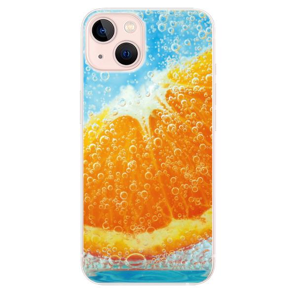 Odolné silikonové pouzdro iSaprio - Orange Water - iPhone 13