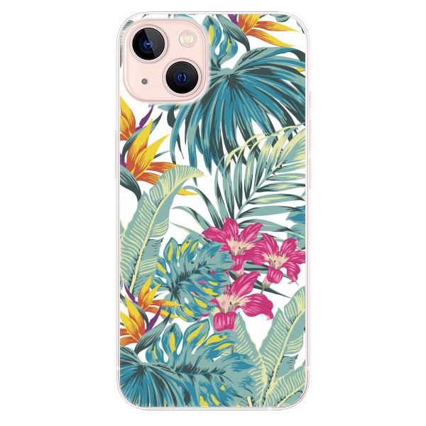 Odolné silikonové pouzdro iSaprio - Tropical White 03 - iPhone 13
