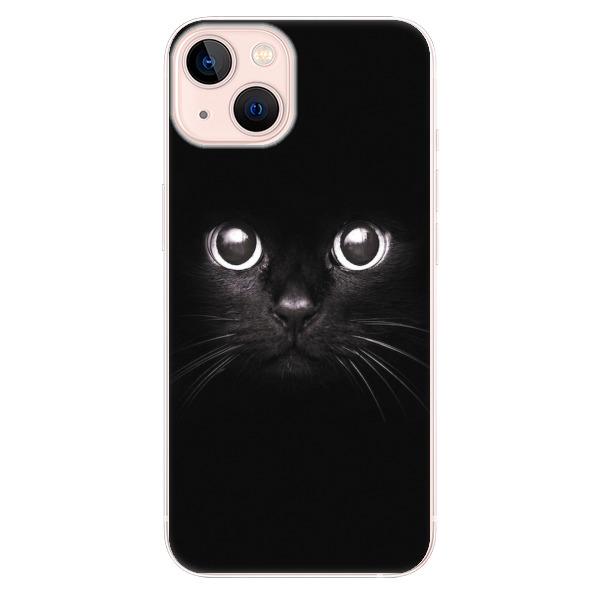 Odolné silikonové pouzdro iSaprio - Black Cat - iPhone 13
