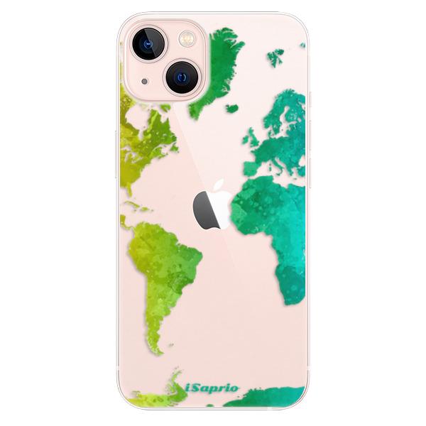 Odolné silikonové pouzdro iSaprio - Cold Map - iPhone 13