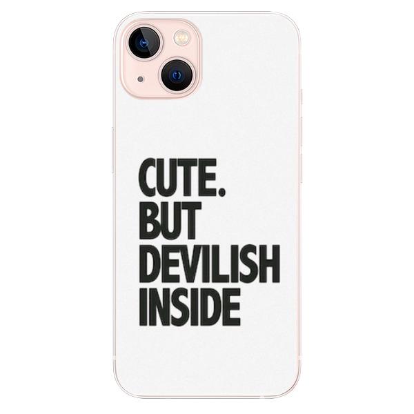 Odolné silikonové pouzdro iSaprio - Devilish inside - iPhone 13