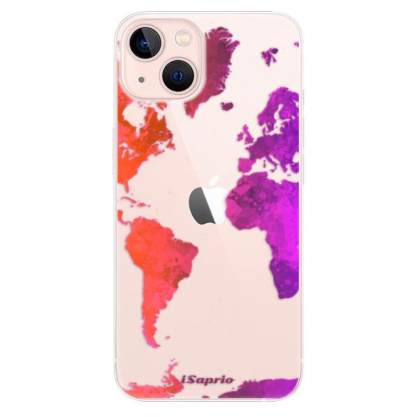 Odolné silikonové pouzdro iSaprio - Warm Map - iPhone 13