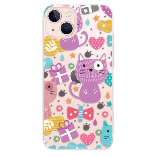 Odolné silikonové pouzdro iSaprio - Cat pattern 01 - iPhone 13