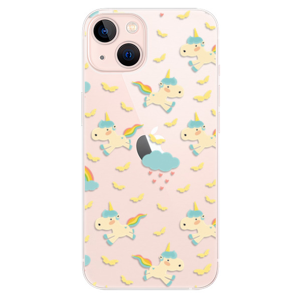 Odolné silikonové pouzdro iSaprio - Unicorn pattern 01 - iPhone 13