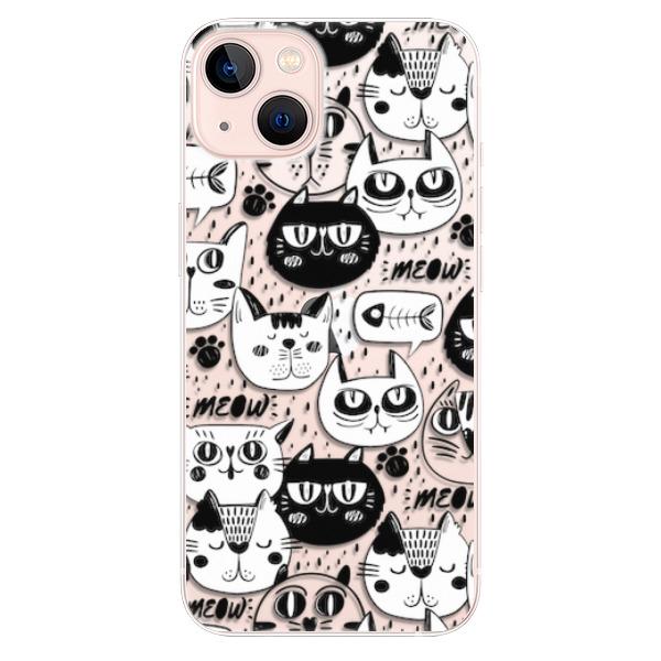 Odolné silikonové pouzdro iSaprio - Cat pattern 03 - iPhone 13