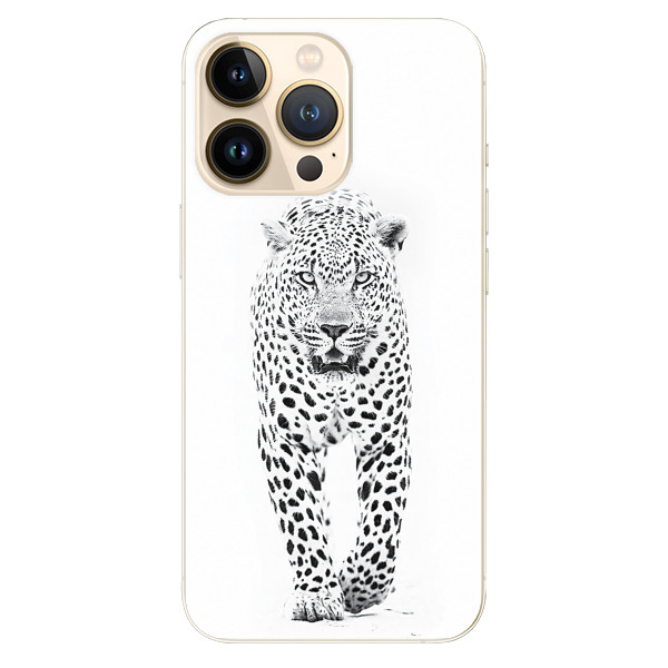 Odolné silikonové pouzdro iSaprio - White Jaguar - iPhone 13 Pro