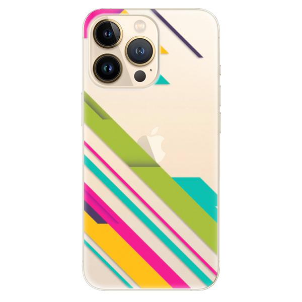 Odolné silikonové pouzdro iSaprio - Color Stripes 03 - iPhone 13 Pro