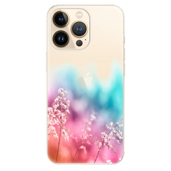 Odolné silikonové pouzdro iSaprio - Rainbow Grass - iPhone 13 Pro