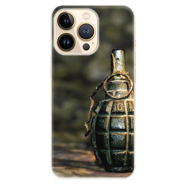 Odolné silikonové pouzdro iSaprio - Grenade - iPhone 13 Pro