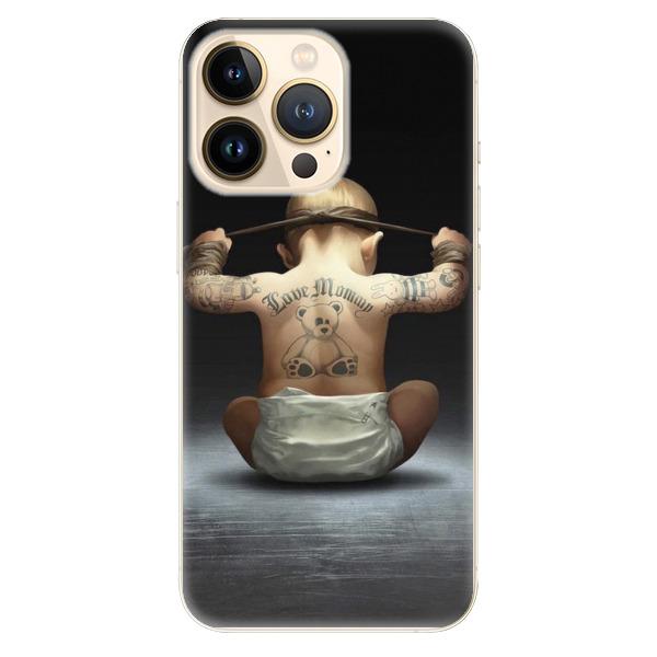 Odolné silikonové pouzdro iSaprio - Crazy Baby - iPhone 13 Pro