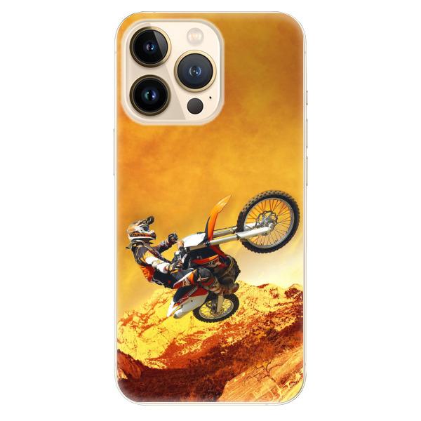 Odolné silikonové pouzdro iSaprio - Motocross - iPhone 13 Pro