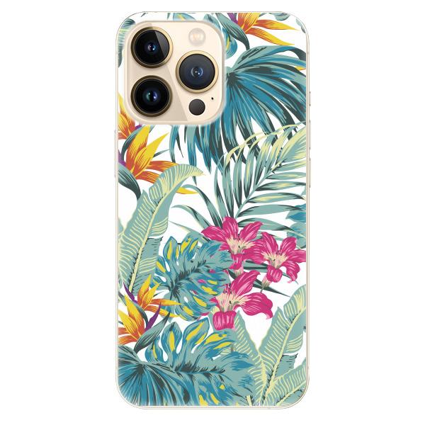 Odolné silikonové pouzdro iSaprio - Tropical White 03 - iPhone 13 Pro