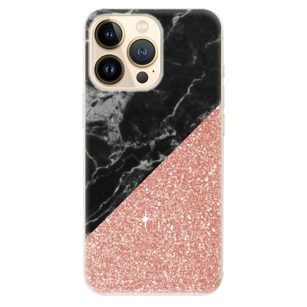 Odolné silikonové pouzdro iSaprio - Rose and Black Marble - iPhone 13 Pro