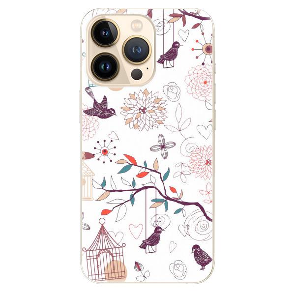 Odolné silikonové pouzdro iSaprio - Birds - iPhone 13 Pro
