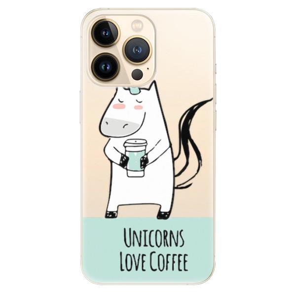 Odolné silikonové pouzdro iSaprio - Unicorns Love Coffee - iPhone 13 Pro