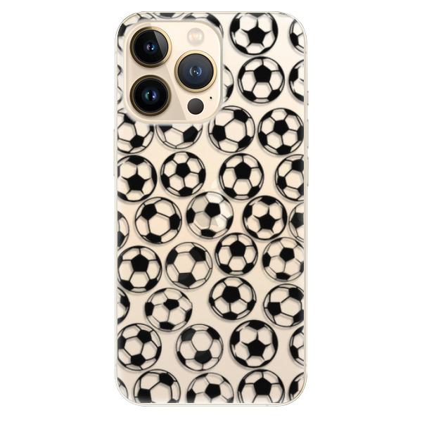 Odolné silikonové pouzdro iSaprio - Football pattern - black - iPhone 13 Pro