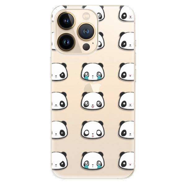 Odolné silikonové pouzdro iSaprio - Panda pattern 01 - iPhone 13 Pro
