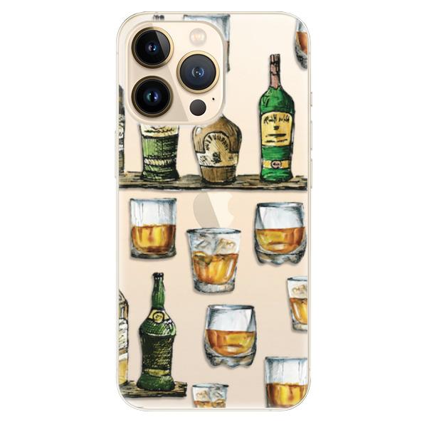 Odolné silikonové pouzdro iSaprio - Whisky pattern - iPhone 13 Pro