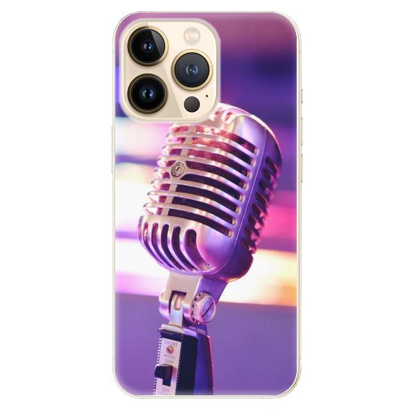 Odolné silikonové pouzdro iSaprio - Vintage Microphone - iPhone 13 Pro Max