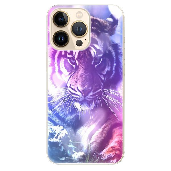 Odolné silikonové pouzdro iSaprio - Purple Tiger - iPhone 13 Pro Max