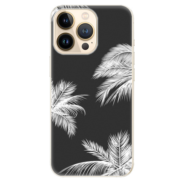 Odolné silikonové pouzdro iSaprio - White Palm - iPhone 13 Pro Max