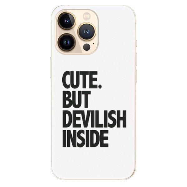 Odolné silikonové pouzdro iSaprio - Devilish inside - iPhone 13 Pro Max