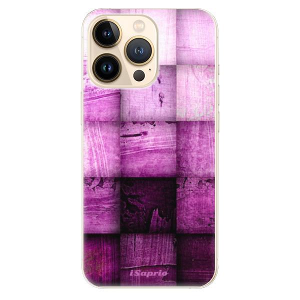 Odolné silikonové pouzdro iSaprio - Purple Squares - iPhone 13 Pro Max