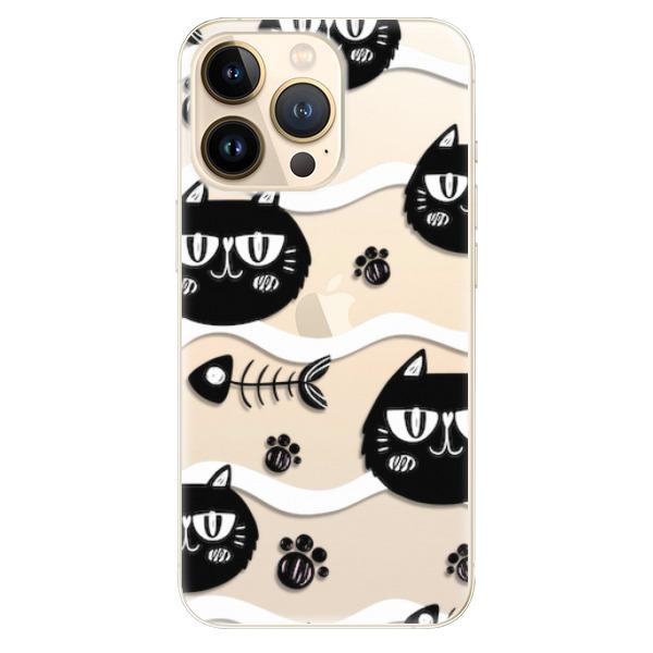 Odolné silikonové pouzdro iSaprio - Cat pattern 04 - iPhone 13 Pro Max