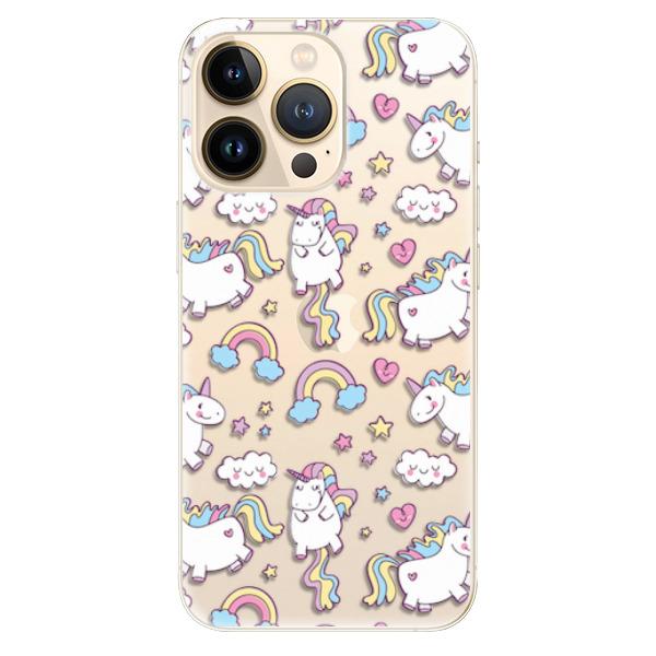 Odolné silikonové pouzdro iSaprio - Unicorn pattern 02 - iPhone 13 Pro Max