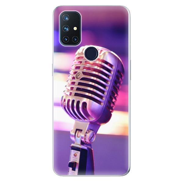 Odolné silikonové pouzdro iSaprio - Vintage Microphone - OnePlus Nord N10 5G