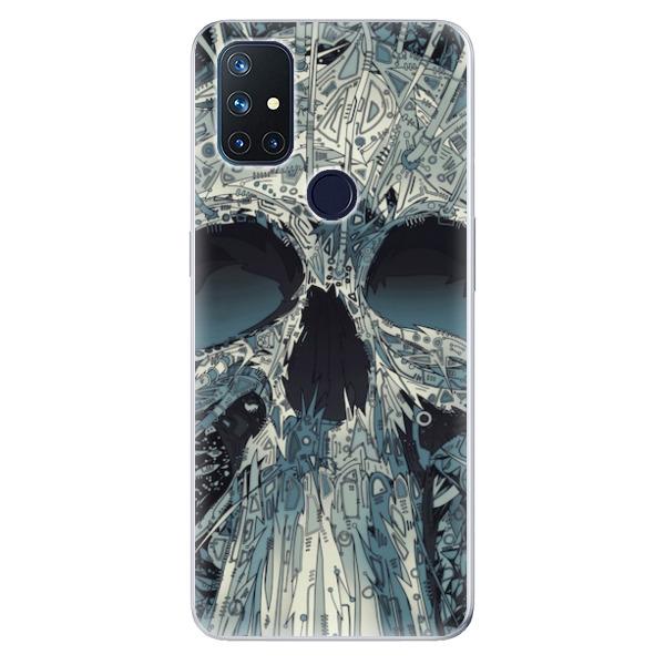 Odolné silikonové pouzdro iSaprio - Abstract Skull - OnePlus Nord N10 5G