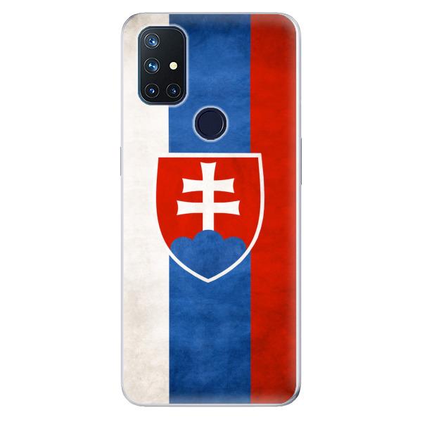 Odolné silikonové pouzdro iSaprio - Slovakia Flag - OnePlus Nord N10 5G