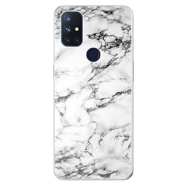 Odolné silikonové pouzdro iSaprio - White Marble 01 - OnePlus Nord N10 5G