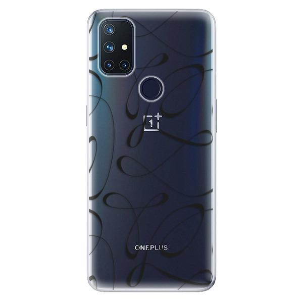 Odolné silikonové pouzdro iSaprio - Fancy - black - OnePlus Nord N10 5G