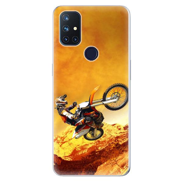 Odolné silikonové pouzdro iSaprio - Motocross - OnePlus Nord N10 5G