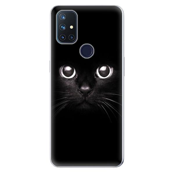 Odolné silikonové pouzdro iSaprio - Black Cat - OnePlus Nord N10 5G